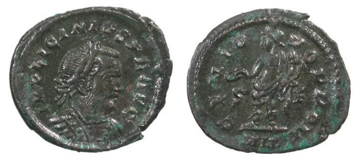 Ancient Coins - Licinius I 308-324 A.D. Follis London Mint Good VF