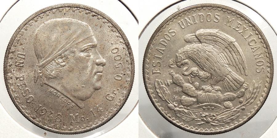 World Coins - MEXICO: 1948-Mo Peso