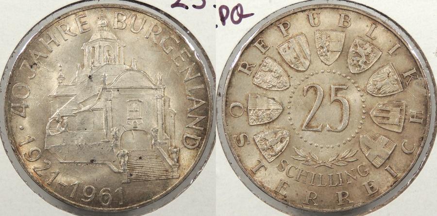 World Coins - AUSTRIA: 1961 Burgenland 25 Schillings #WC63860