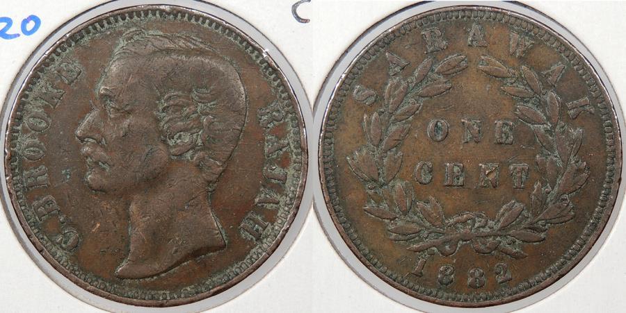 World Coins - SARAWAK: 1882 Cent