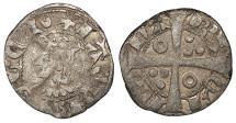 World Coins - SPAIN Barcelona Jaime II 1327-1335 Dinero (Diner) Near VF
