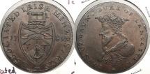 World Coins - IRELAND: 1789 Associated Irish Miners. HalfPenny Token