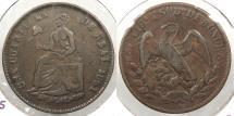World Coins - MEXICO: Sonora 1861 1/4 Real