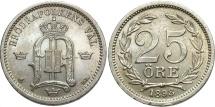 World Coins - SWEDEN: 1898 25 Ore