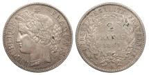 World Coins - FRANCE 1881-A 2 Francs EF