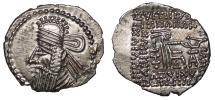 Ancient Coins - Parthia Vologases IV 147-191 A.D. Drachm EF