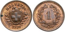 World Coins - SWITZERLAND: 1930 1 Rappen