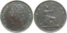 World Coins - GREAT BRITAIN: Victoria 1881 1 Farthing