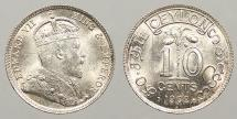 World Coins - CEYLON: 1902 10 Cents