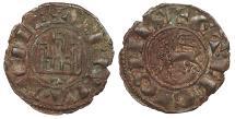 World Coins - Spain Castille & Leon Fernando (Ferdinand) IV 1295-1312 Pepion (Dinero) EF