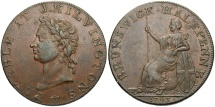 World Coins - GREAT BRITAIN: J. Kilvington 1795 Brunswick Halfpenny