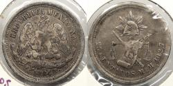 World Coins - MEXICO: Republic 1884-Mo M 25 Centavos