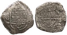 World Coins - MEXICO Philip III or IV ND (1614-1637) Cob 8 Reales VF