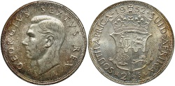 World Coins - SOUTH AFRICA: 1952 2 1/2 Shillings