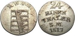World Coins - GERMAN STATES: Saxe-Weimar-Eisenach 1813 1/24 Thaler