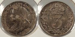 World Coins - GREAT BRITAIN: 1900 Victoria. Threepence