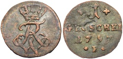 World Coins - GERMANY: Prussia 1797 B 1 Gr÷schel