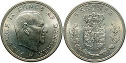 World Coins - DENMARK: 1964 5 Kroner
