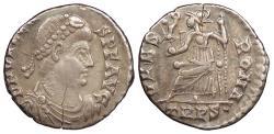 Ancient Coins - Valens 378-394 A.D. Siliqua Trier Mint VF