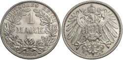 World Coins - GERMANY: 1909 A 1 Mark