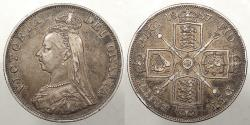 World Coins - GREAT BRITAIN: 1887 Double Florin