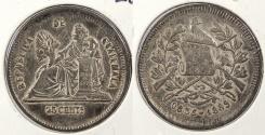 World Coins - GUATEMALA: 1889 25 Centavos
