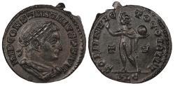 Ancient Coins - Constantine I 307-337 A.D. Follis Lyons (Lugdunum) Mint EF