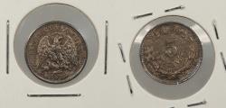 World Coins - MEXICO: 1892-Mo M 5 Centavos