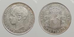 World Coins - SPAIN: 1900 Peseta