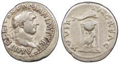 Ancient Coins - Vitellius 69 A.D. Denarius Rome Mint Good Fine