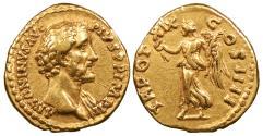 Ancient Coins - Antoninus Pius 138-161 A.D. Aureus Rome Mint Good VF