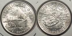 World Coins - CUBA: 1952 Commemorative 20 Centavos