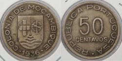 World Coins - MOZAMBIQUE: 1936 50 Centavos