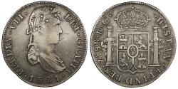 World Coins - MEXICO Zacatecas Ferdinand VII 1821-Zs RG 8 Reales EF