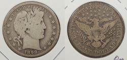 Us Coins - 1898-S Barber 50 Cents (Half Dollar)
