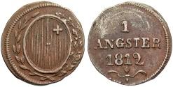 World Coins - SWISS CANTONS: Schwyz 1812 1 Angster