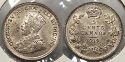 World Coins - CANADA: 1919 5 Cents