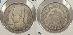 World Coins - EGYPT: AH 1356 / 1937 Farouk 5 Piastres