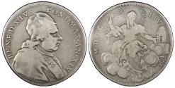 World Coins - ITALIAN STATES Papal States Benedict XIV 1754 Yr XIV Scudo Fine