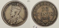 World Coins - CANADA: Newfoundland 1919-C 50 Cents