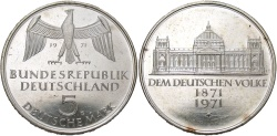 World Coins - GERMANY (WEST): 1971 G 5 Mark