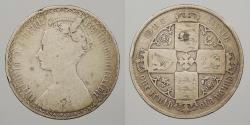 World Coins - GREAT BRITAIN: 1887 Victoria; Gothic type. Florin