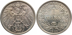 World Coins - GERMANY: 1909-D 1 Mark