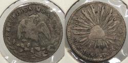 World Coins - MEXICO: Republic 1849/39-Go PF 1/2 Real