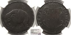 Us Coins - 1694 London Elephant Token Halfpenny Colonial Coinage Thick Planchet NGC VF