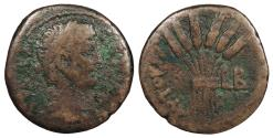 Ancient Coins - Egypt Alexandria Claudius 41-54 A.D. Diobol Good Fine Ex. Léon Lacroix collection. Lacroix (1909-2016) is considered one of the longest-lived numismatists and was a prolific author on subjects of Greek numismatic iconography.