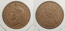 World Coins - NEW ZEALAND: 1942 George VI Penny