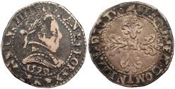 World Coins - FRANCE In the name of Henry III, during the reign of Henry IV 1589-1610 Demi-Franc 1590 Near EF