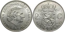 World Coins - NETHERLANDS: 1962 2 1/2 Gulden