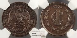 World Coins - MEXICO 1903-C Centavo NGC MS-63 BN